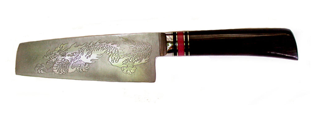 6 inch Chopper with 'Dragon' Etching.