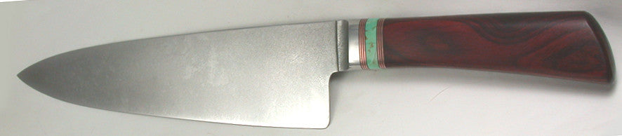 8 inch Chef's Knife with Plain Etched Blade.