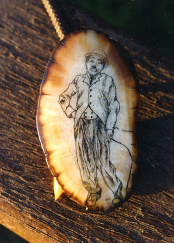 Bolotie with Little Tramp Scrimshaw.