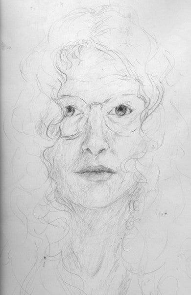 Self-Portrait in Pencil.