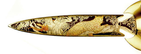 8 inch Dagger with Leopard and Impala.