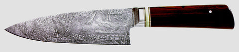 6 inch Chef's Knife with Alligators Custom Etching