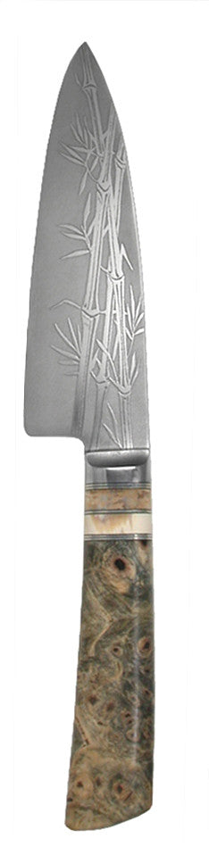 6 inch Chef's Knife with '3-Stalk Bamboo' Etching.