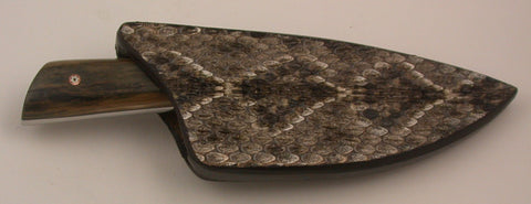 Basic 1 Double-sided Rattlesnake Skin Sheath.