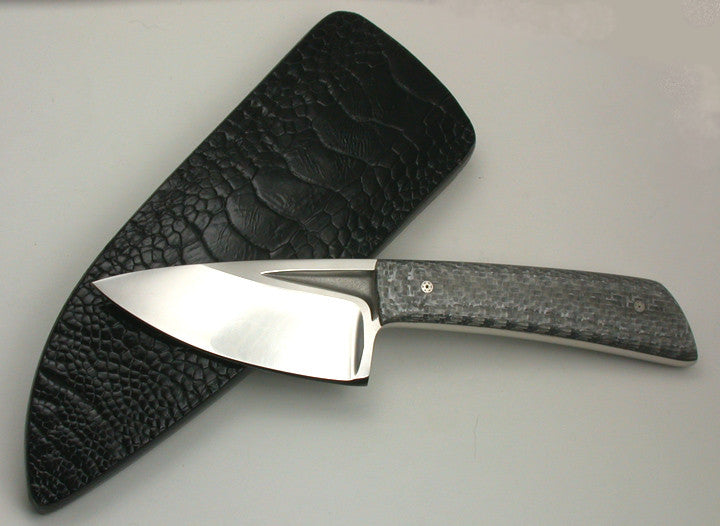 Boye Basic 2 Cobalt with Handle & Black Ostrich Sheath.