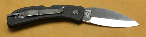 Boye Cobalt Eagle Wing Lockback Folding Pocket Knife with Black Handle and Marlin Spike.