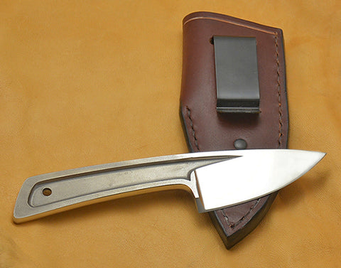 Boye Basic 2 Cobalt with Leather Sheath and Belt Clip.