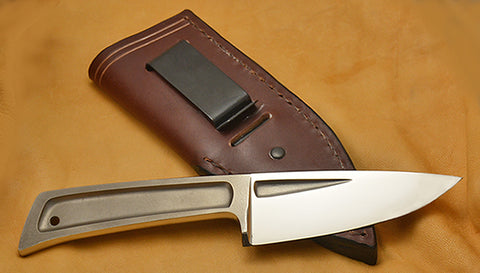 Boye Basic 3 Cobalt with Leather Sheath and Belt Clip.