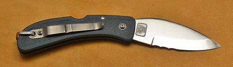 Boye Cobalt Blue Whale Lockback Folding Pocket Knife with Blue Handle, Serrations, and Marlin Spike-3.