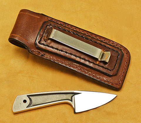 Boye Cobalt Sub-Basic with Leather Sheath.