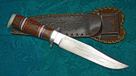 WWII Memorial Knife with Custom Etching of Delila