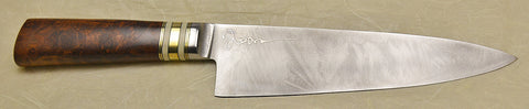 8 inch Chef's Knife with 'Pride of Lions' Etching.