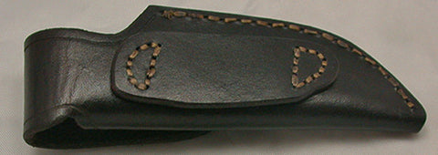 Basic 1 Leather Sheath with Brass Button.