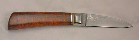 2.5 inch Persona Paring Knife with Plain Etched Blade & Ironwood Handle.