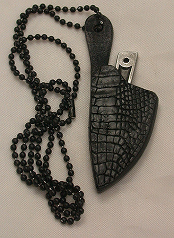 Photon Black Double-sided Croc Neck Sheath.