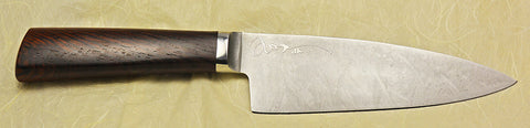 6 inch Chef's Knife with 'Swans' Etching.