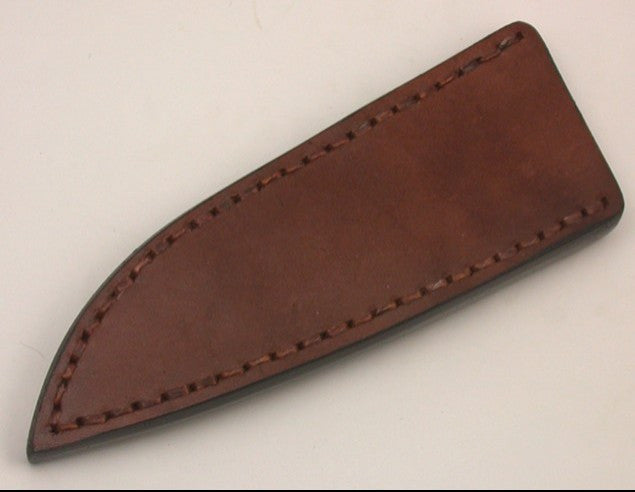 Basic 2 Leather Pouch Sheath with Metal Belt Clip.