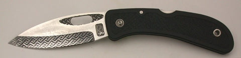 Boye Basketweave/Hole Lockback Folding Knife with 'Basketweave' Etching.