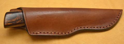 4 inch Dropped Point Hunter with Dendritic Cobalt Blade and Desert Ironwood Handle.