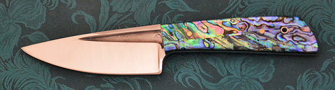 Boye Basic 3 Cobalt with Abalone Artstone Handle.