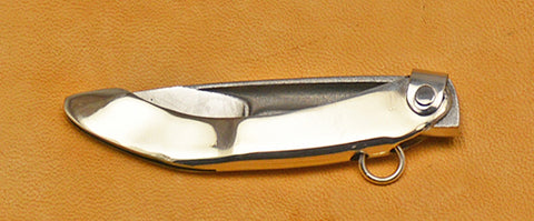 Boye Mini-Tweezerlock Folding Pocket Knife with Plain Etched Blade.