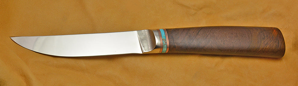4.5 inch Kitchen Utility Knife with Cobalt Blade and Cocobolo Handle.