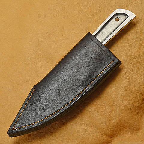 Boye Basic 2 Cobalt with Dark Brown Leather Sheath.
