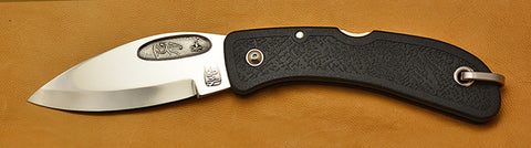 Boye Cobalt Bow Hunter Lockback Folding Pocket Knife with Black Handle~Second.