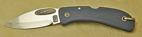 Boye Cobalt Blue Whale Lockback Folding Pocket Knife with Blue Handle - 4.