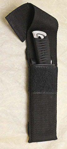 Boye Basic 3 Cobalt with Cord Wrapped Handle and Kydex-lined Nylon Sheath.
