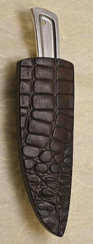 Basic 3 Double-sided Dark Brown Croc Sheath.