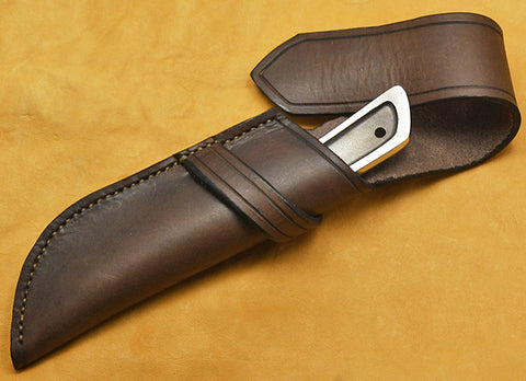 Boye Basic 3 with 'Mule Deer at the Edge of the Redwoods' Etching and Leather Sheath-2nd.