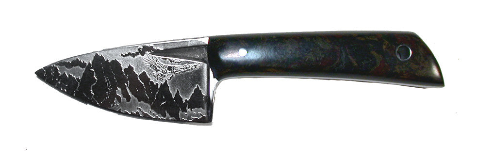Boye Basic 2 with Handle and 'Devil's Postpile' Etching.