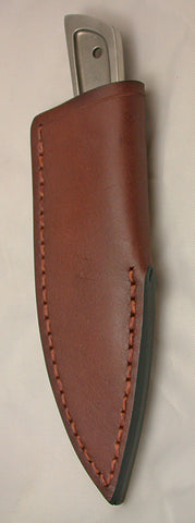 Boye Basic 3 with 'Dragon' Etching and Leather Sheath.