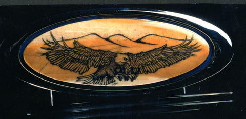 Belt Buckle with Eagle Scrimshaw.
