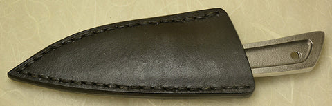 Boye Basic 2 with 'Eagles' Etching & Black Leather Sheath.