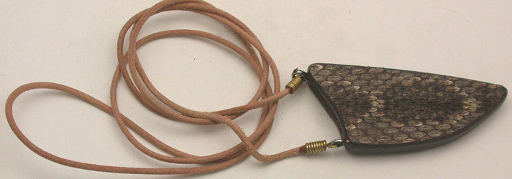 Double-sided Rattlesnake Skin Neck Sheath for Mini-Tweezer.