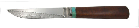 4.5 inch Kitchen Utility Knife with 'Wavy Rainbird' and 'Goats' Etching.