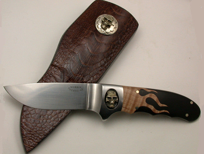 Norris 4 inch Hunter with Skull & Flames.
