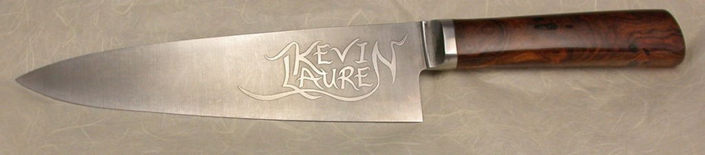 8 inch Chef's Knife with 'KevinLauren' Etching.