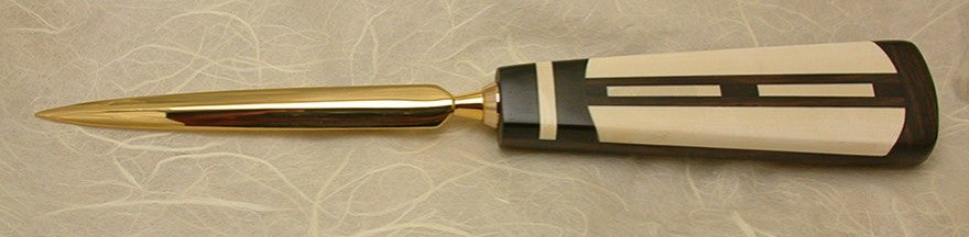 3.5 inch Desktop Letter Opener with Inlaid Handle - 3.