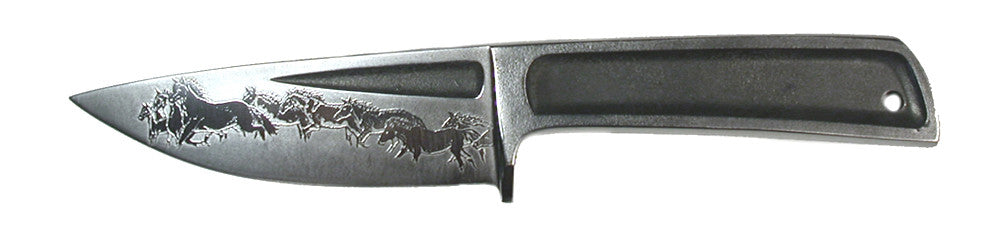 Boye Basic 3 Hunter with 'Mustangs' Etching.