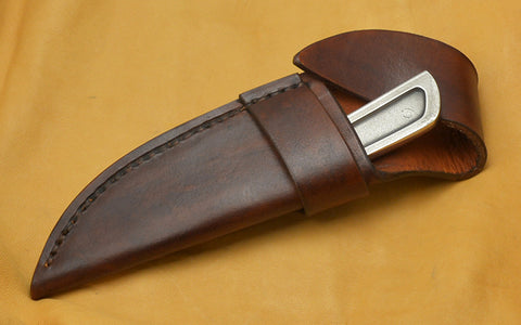 Boye Basic 2 Cobalt~New Style~with Brown Leather Flap Sheath.