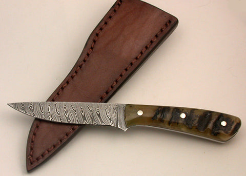 Oz Knives 4 inch Damascus Bird & Trout Knife.