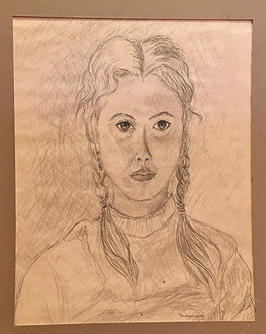 Pencil Portrait of Unknown Girl