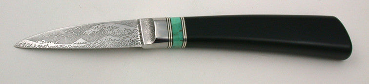 2.5 inch Persona Paring Knife with 'Tsunami' Etching.