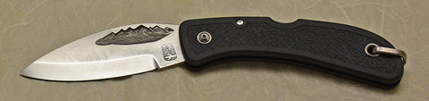 Boye Mountain Lockback Folding Pocket Knife with Plain Etched Blade--Second.