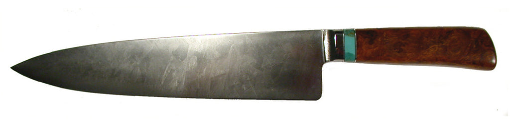 10 inch Chef's Knife with Plain Etched Blade.