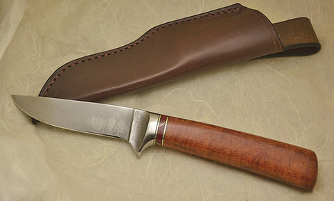 4 inch Dropped Point Hunter with Plain Etched Blade - 5.