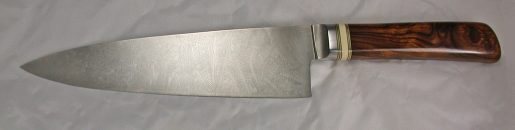 8 inch Chef's Knife with Plain Etched Blade - 4.